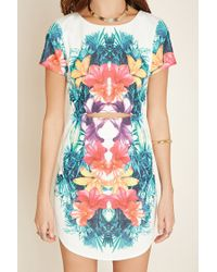 Forever 21 Pink Tropical Print Mini Dress