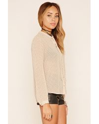 Forever 21 - Black Spiked High-low Shirt - Lyst