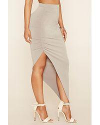 Forever 21 - Multicolor Asymmetrical Maxi Skirt - Lyst