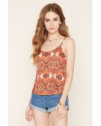 Forever 21   Brown Lattice-cutout Cropped Cami   Lyst