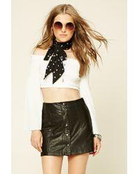 Forever 21 | Black Faux Leather Mini Skirt | Lyst