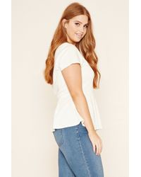 Forever 21 - White Plus Size Peplum Top - Lyst