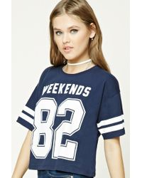 Forever 21 | Blue Weekends 82 Graphic Tee | Lyst