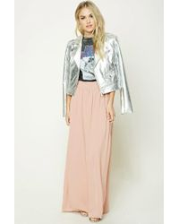 Forever 21 - Pink Contemporary Satin Maxi Skirt - Lyst