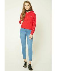 Forever 21 | Blue High-waist Skinny Jeans | Lyst