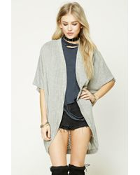 Forever 21   Gray Dolman-sleeve Cocoon Cardigan   Lyst