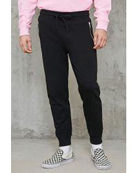 Forever 21 - Black Slim-fit Zippered Sweatpants for Men - Lyst