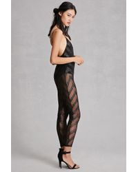 76b90d4d367a Lyst - Forever 21 Jaded London Chevron Jumpsuit in Black