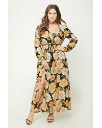 7546886642b Women's Plus Size Floral Maxi Dress