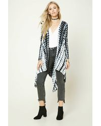 Forever 21 | Multicolor Abstract Print Hoodie Cardigan | Lyst