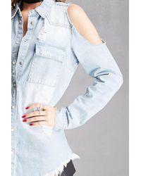 Forever 21 - Blue Pixie And Diamond Denim Shirt - Lyst