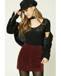Forever 21 | Black Lace-paneled Tee | Lyst