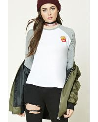Forever 21 | White French Fries Baseball Tee | Lyst