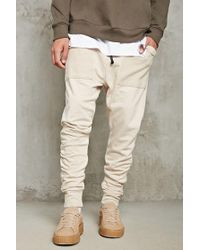 Forever 21   Natural Drop-crotch Ruched Joggers for Men   Lyst