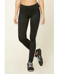 Forever 21 | Black Active Side Stripe Leggings | Lyst