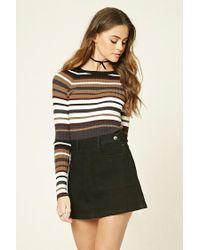 Forever 21   Black Denim Mini Skirt   Lyst