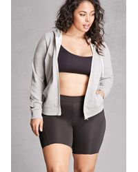 Forever 21 | Gray Plus Size Zip-up Hoodie | Lyst