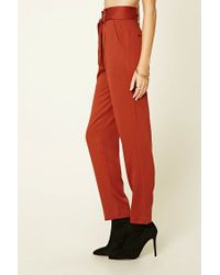 Forever 21 Red Contemporary High-waisted Pants