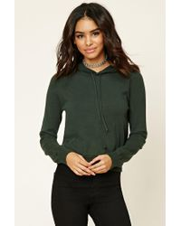 Forever 21 | Green Knit Drawstring Hoodie | Lyst