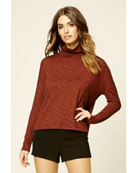 Forever 21 | Brown Contemporary Turtleneck Top | Lyst