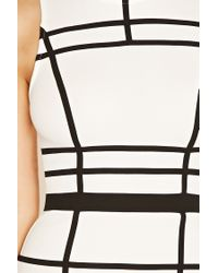 Forever 21 - Black Contrast-piped Bodycon Dress - Lyst