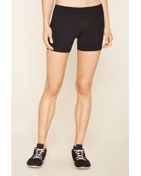 Forever 21 - Black Active Stretch Knit Shorts - Lyst