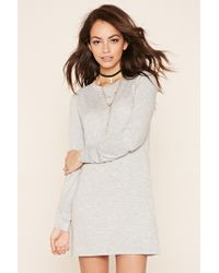 Forever 21 | Gray Heathered Shift Dress | Lyst