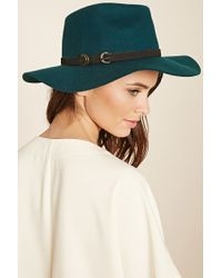 Forever 21 | Green Faux Leather Band Fedora | Lyst