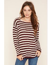 4d69c610796a20 Forever 21. Women s Contemporary Striped Sweater