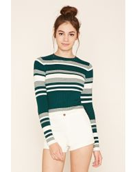 Forever 21 - Green Colorblock Sweater Top - Lyst