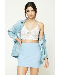 Forever 21 | Blue Faux Suede Mini Skirt | Lyst