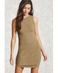 Forever 21   Green Heathered Bodycon Dress   Lyst