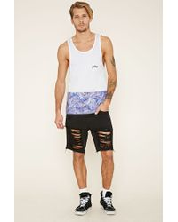 Forever 21 - Blue Just Hype Palm Graphic Tank for Men - Lyst