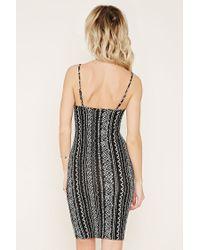 Forever 21 - Black Print Cami Dress - Lyst