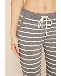 Forever 21 - Gray Vacay Graphic Stripe Pj Set - Lyst