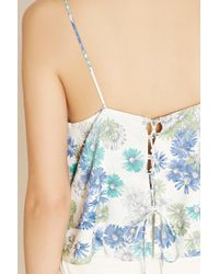 Forever 21 - Blue Contemporary Daisy Print Cami - Lyst