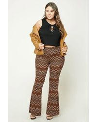 Forever 21 | Natural Plus Size Flared Chevron Pants | Lyst