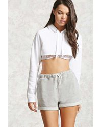 Forever 21 | Gray French Terry Drawstring Shorts | Lyst