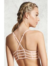 Forever 21 | Pink Low Impact - Caged Sports Bra | Lyst