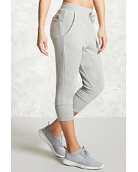 Forever 21 | Gray Active Graphic Capri Joggers | Lyst