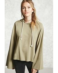 Forever 21 | Green Contemporary Bell Sleeve Hoodie | Lyst