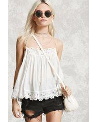 Forever 21 | White Crochet-trim Cami | Lyst