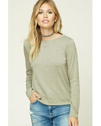 Forever 21 | Green Contemporary Marled Knit Top | Lyst