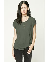 Forever 21 | Green Boxy Ribbed Knit Top | Lyst