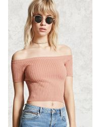Forever 21 | Multicolor Ribbed Knit Crop Top | Lyst