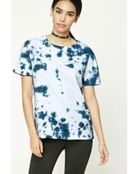 Forever 21 | Blue Tie-dye Boxy Tee | Lyst