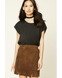 Forever 21 | Black Satin Boxy Top | Lyst