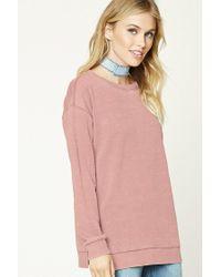 Forever 21 | Pink Contemporary Fleece Sweatshirt | Lyst