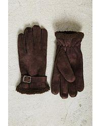 Forever 21 | Brown Men Faux Shearling Gloves for Men | Lyst