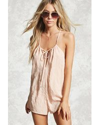 Forever 21 Multicolor Embroidered Cover-up Romper